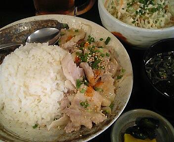 豚しゃぶ丼 -ゴマ風味-
