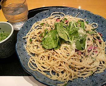 大葉風味のヘルシーグリーンスパゲッティー