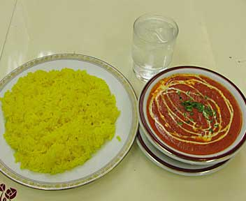 フィッシュバターマサラ +サフランライス
