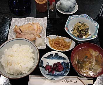 さかな定食(アイナメの塩焼き)