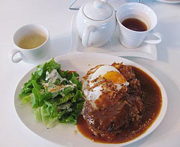 ロコモコ ハワイの目玉焼きハンバーグご飯(グレービーソース)