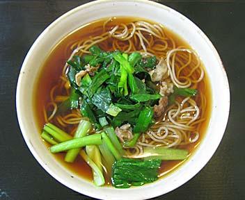 ニラ牛肉そば(冬季限定)
