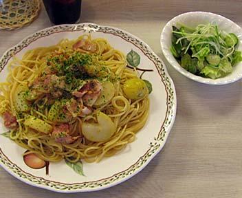 ジャガイモとベーコンのスパゲッティ