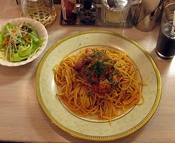 ベーコンのトマトソーススパゲッティー