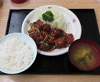 鶏肉ケチャップ炒め定食