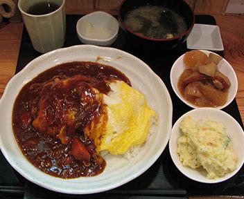 オムハヤシ定食(阿波屋定食)