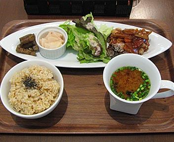 ベジフリット(大豆ミート)甘酢ソース(日替りBBプレート)