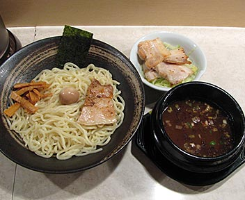 ゆず風味つけ麺 + 焼チャーシュー