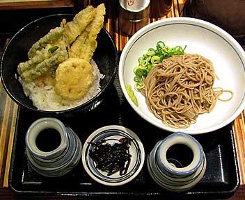 穴子丼セット(そば)