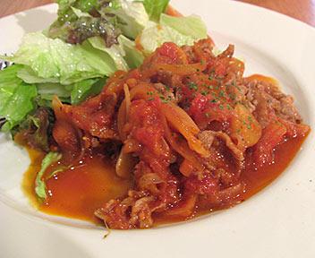 牛ばら肉のトマト炒め