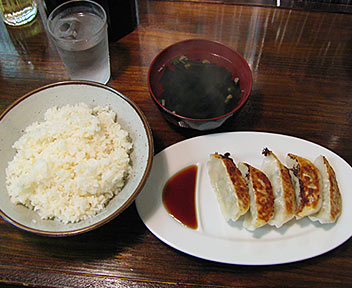 宇都宮餃子+ライス(スープ付き)
