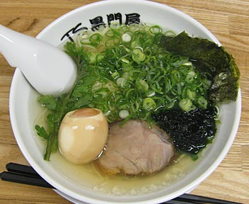 黒門屋塩(細麺)+名古屋コーチン半熟味付け玉子