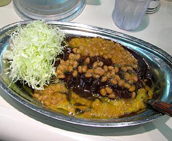 ゴーゴーカレー(エコノミー)+納豆