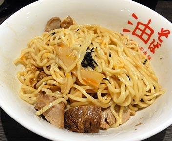 東京麺珍亭本舗 西早稲田店/油そば焼豚(大盛り)