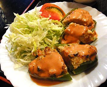 ピーマン肉詰め定食