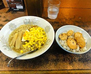塩ラーメン+焼鳥丼