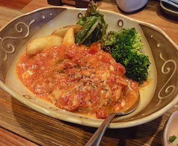 ハンバーグ トマト&チーズソース