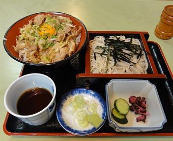 スタミナねぎ豚丼+ミニざる