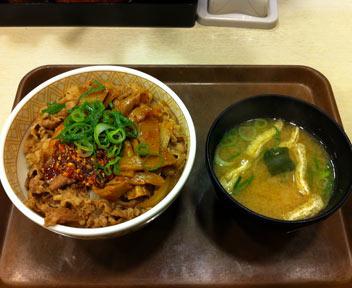 すき家 高田馬場店/食べラー・メンマ牛丼