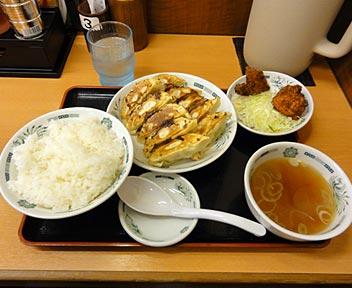 中華食堂 日高屋 高田馬場駅前店/W餃子定食