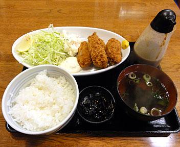 博多うどん ウエスト 高田馬場店/大カキフライ定食