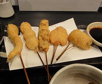 串揚和食DINING 串寅/串揚げ定食 5本盛り