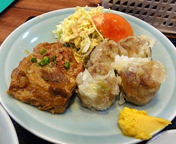 沖縄食堂 がちまや〜/黒豚シューマイ、ソーキ定食