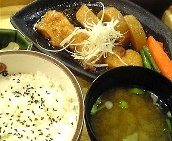 メカジキの揚げ煮定食